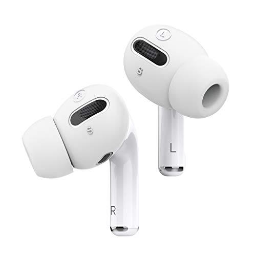 elago Earbuds Plus Silikon Ohrpolster Abdeckung mit integrierten Tips Kompatibel mit Apple AirPods Pro Ohrstöpsel [6 Paare: 2 Große + 2 Mittlere + 2 Kleine] (Weiß)