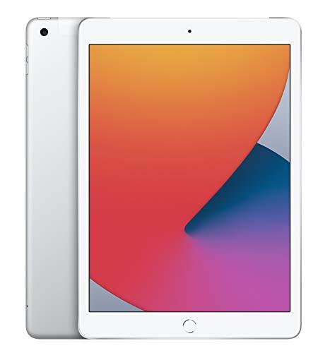 2020 Apple iPad (10,2', Wi-Fi + Cellular, 128GB) - Silber (8. Generation)