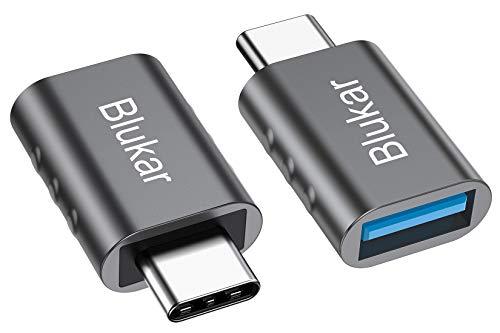 Blukar USB C Adapter auf USB 3.0, [2 Stücke] USB Typ C Adapter mit OTG, Thunderbolt 3 to USB 3.1, Kompatibel mit Huawei, Galaxy, iPad Pro, MacBook Pro