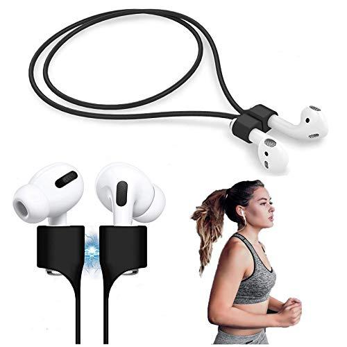 Magnetische Anti-Verlust-Gurte für AirPods PRO/2/1, Halteband für AirPods aus geschmeidigem Silikon-Perfekt um Sich die Kopfhörer um den Hals zuhängen(schwarz)