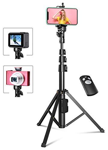 Bovon 133cm Erweiterbar Selfie Stick Stativ mit Bluetooth-Fernauslöser, Handy Stativ Kompatibel mit iPhone 12 Pro Max, 12 Mini, 11 Pro Max, Samsung S20 Ultra usw, Gopro Action Kamera