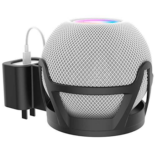 LKOER Intelligente Lautsprecher-Wandhalterung, geeignet für Apple Homepod Mini-Wandhalterung, Abs-Halterung,Echowandwand (integrierte Kabelführung) Schwarz