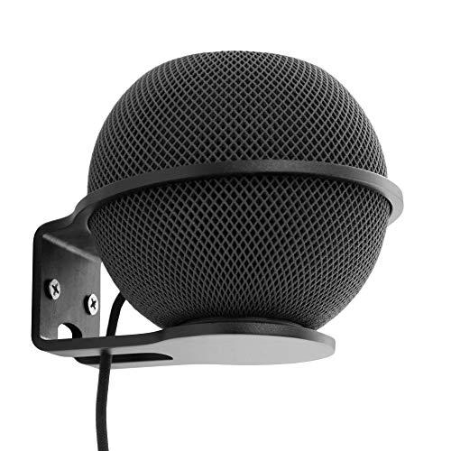 Wandhalterung Kompatibel mit Apple Homepod Mini, robuster Metallhalterung für die Wandhalterung Klares Kabelmanagement, um ordentlich zu bleiben (schwarz)