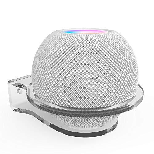 Molitececool Kleines Wandregal, Wandhalterung Kompatibel mit Apple Homepod Mini,stabile transparente Acryl-Wandhalterung, spart Platz und schützt vor Punkten, entworfen für Küche
