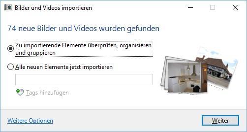 Videos und Bilder von Kamera auf PC übertragen