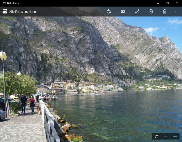 Fotos anzeigen in Windows 10