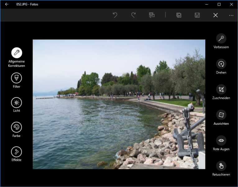 Fotos in Windows 10 bearbeiten