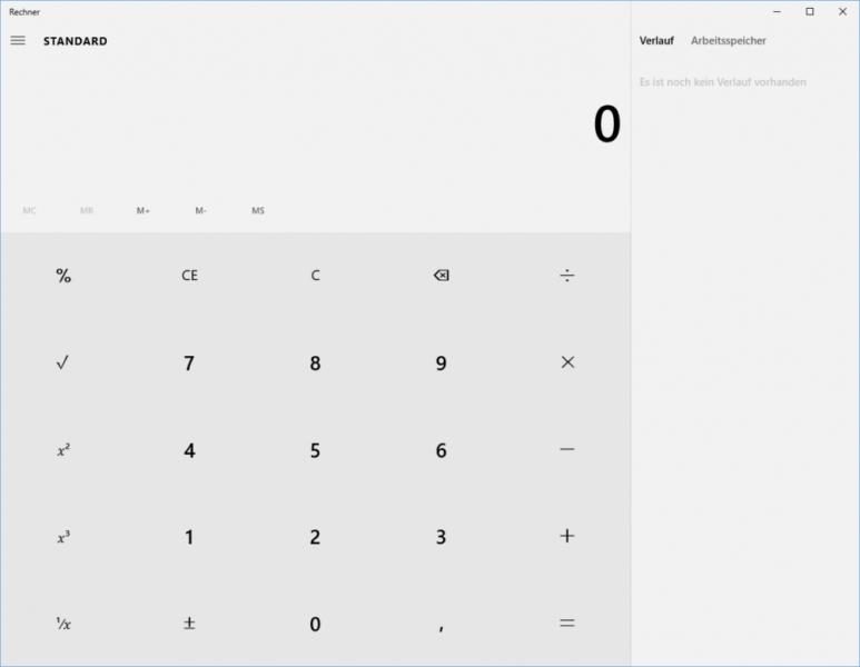 Rechner in Windows 10