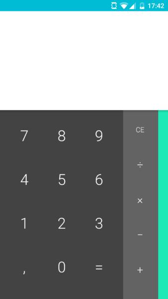 Taschenrechner in Android 6