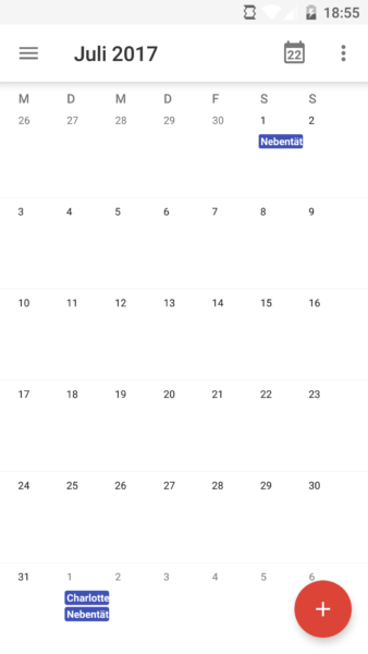 Kalender App in Android 6