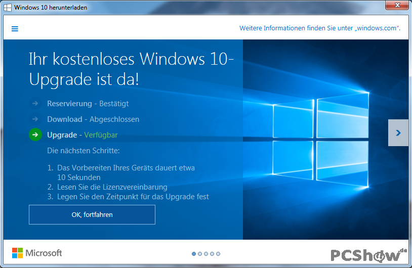 Windows 10-Upgrade ist da