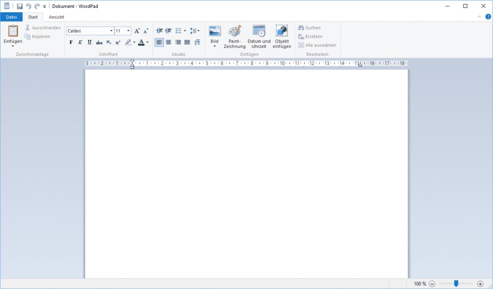 WordPad in Windows 10