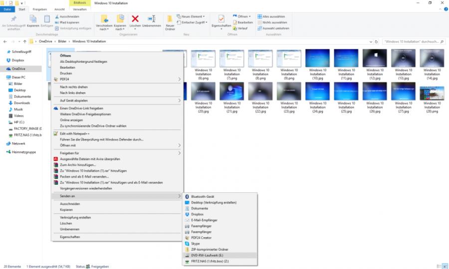 CD brennen mit Windows 10