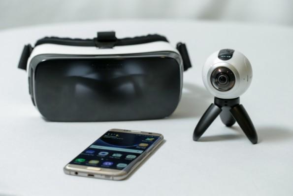Samsung Galaxy 7S mit Gear 360 und Virtual-Reality-Brille