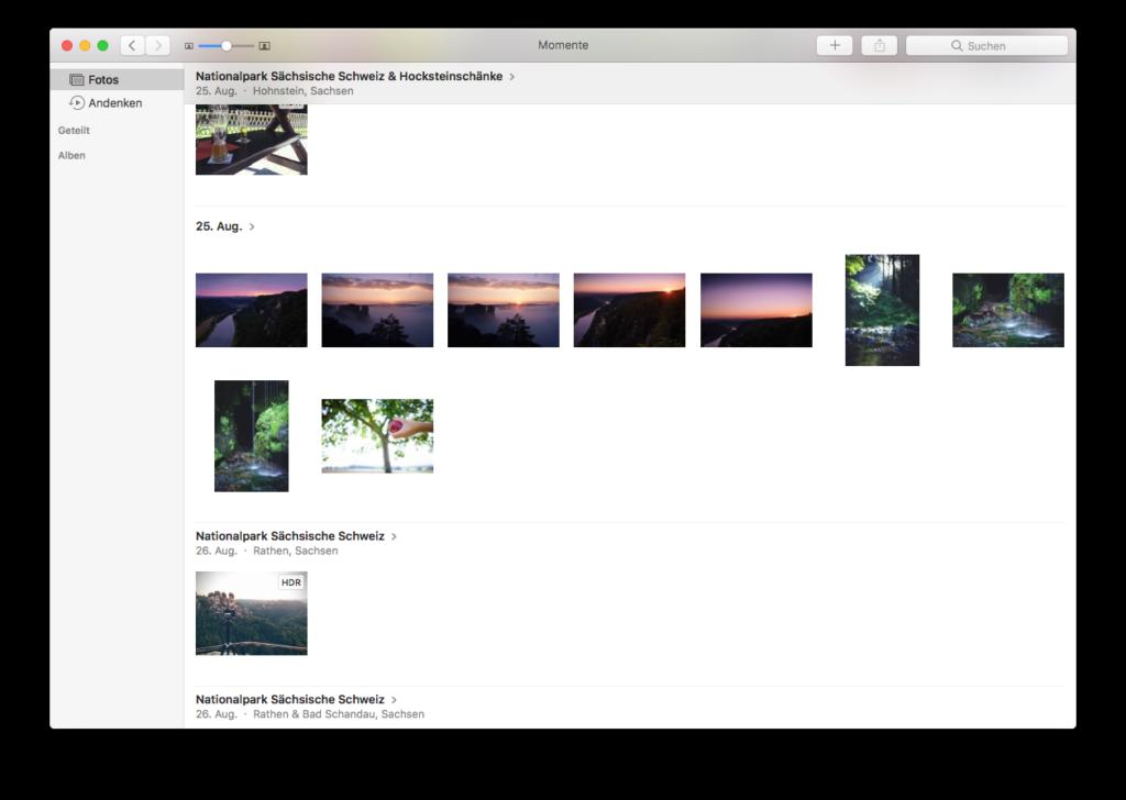 Bilder übertragen per Fotos App am Mac