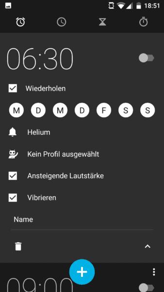 Android Wecker einstellen