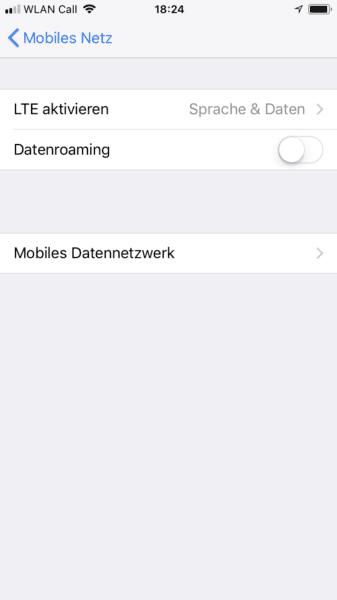 iPhone Roamingskosten sparen