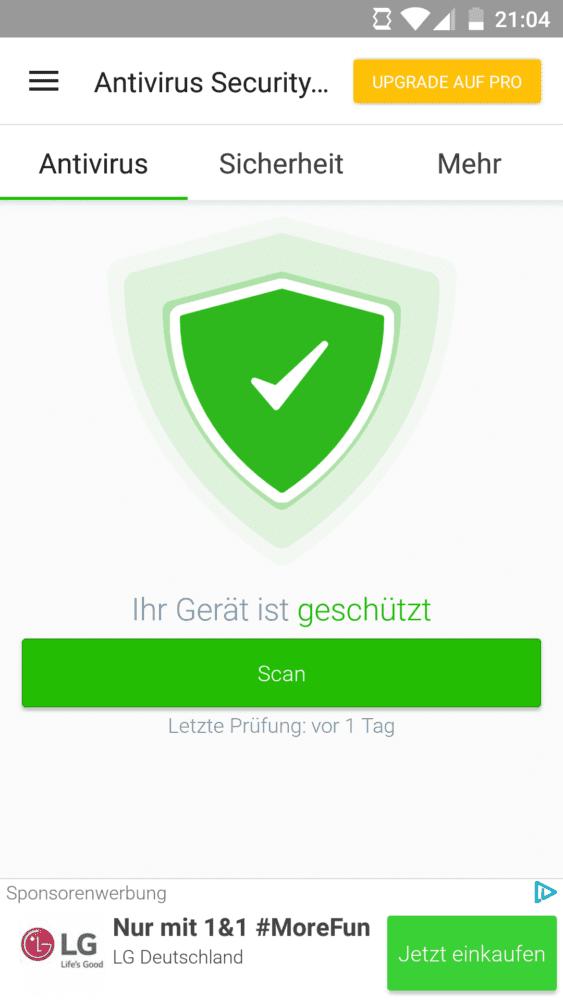 Beste Antivirus App für Android kostenlos Scan