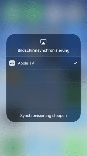 Apple AirPlay in Notification Center