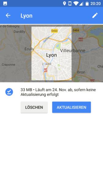 Google Maps Karten offline