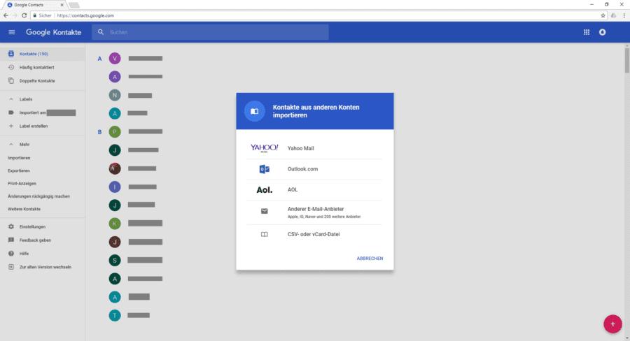 Windows Phone Kontakte auf Android - Google Kontakte importieren