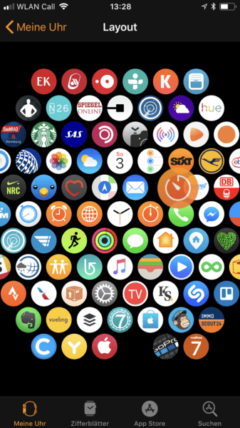 Apple Watch Apps anordnen am iPhone