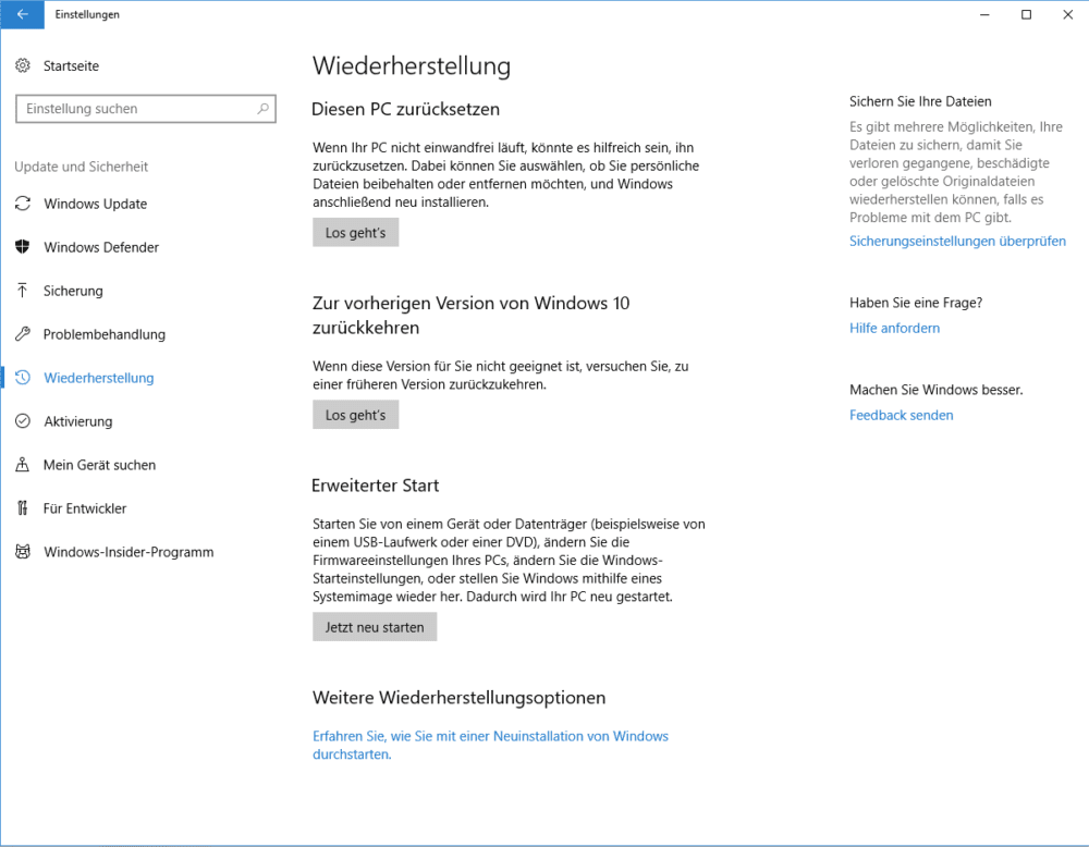 Windows 10 formatieren